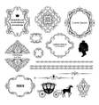 Mega set collections of vintage design elements vector image vector image