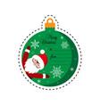 merry christmas santa claus gift tag card vector image vector image