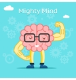 Mighty mind concept Brain with great creative vector image