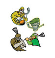 military warriors lacrosse and ice hockey mascot vector image vector image