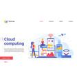 modern cloud computing technology landing page vector image vector image