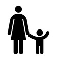 Mother and kid symbol vector image