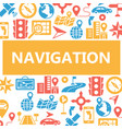 navigation outline web icons set vector image vector image