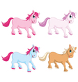 Of Colorful Pony vector image vector image