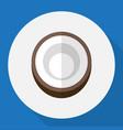 of dessert symbol on coconut vector image vector image