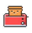 outlined pixel icon toaster fully editable vector image