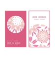 pink abstract flowers vertical round frame pattern vector image vector image