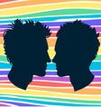 Profiles of two men homosexual couple Rainbow vector image vector image