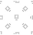 ravioli pasta pattern seamless vector image vector image