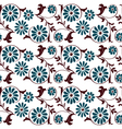 seamless floral pattern vector image vector image