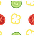 seamless pattern with vegetables set vector image