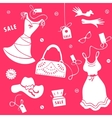 Set elements of sale for women vector image