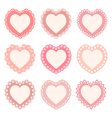 set of heart shaped frames vector image
