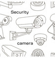 set of security camera pattern vector image vector image