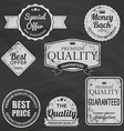 Set of vintage chalkboard bakery logo badges and vector image