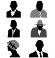 silhouettes of avatars vector image vector image
