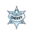 silver sheriff star badge on a vector image vector image