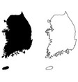 simple only sharp corners map south korea vector image