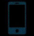 smartphone collage icon of halftone bubbles vector image vector image