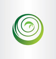spiral bio circle plant ecology green icon logo vector image
