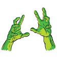 spooky hands vector image vector image