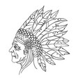 squaw american native indian portrait illus vector image vector image