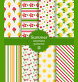 summer seamless patterns collection vector image