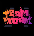 teamwork business concept poster design template vector image vector image