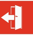 The exit icon Logout and output outlet out vector image vector image