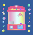 toy claw machine with sweets vector image
