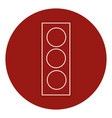 traffic light sign icon vector image vector image
