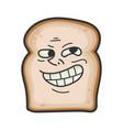 trolling meme slice bread cartoon vector image vector image