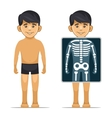 Two Cartoon Style Boy with X-ray Screen and vector image vector image