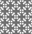 White geometrical ornament on textured dark gray vector image