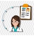 woman medical staff service vector image