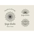 Yoga Studio Logo Template Set vector image