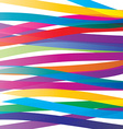Colorful overlay ribbons abstract background Vivid vector image