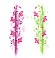 green and violet floral ornament vector image