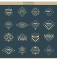 Set of line art deco logotypes frames borders vector image