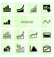 14 increase icons vector image vector image