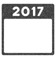 2017 Year Calendar Template Grainy Texture Icon vector image