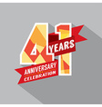 41st Years Anniversary Celebration Design vector image vector image