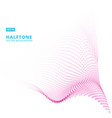 abstract pink halftone wave background vector image vector image