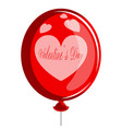 air balloon with a heart shape valentine day vector image