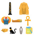ancient egypt set icons in cartoon style big vector image vector image