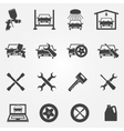 Auto service and repair icon set vector image vector image