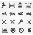 auto service and repair icon set