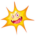 Bacteria with monster face vector image vector image