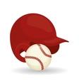 Baseball design sport and supplies vector image