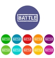 Battle flat icon vector image vector image